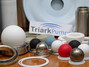 triark made diaphragm pump parts close up